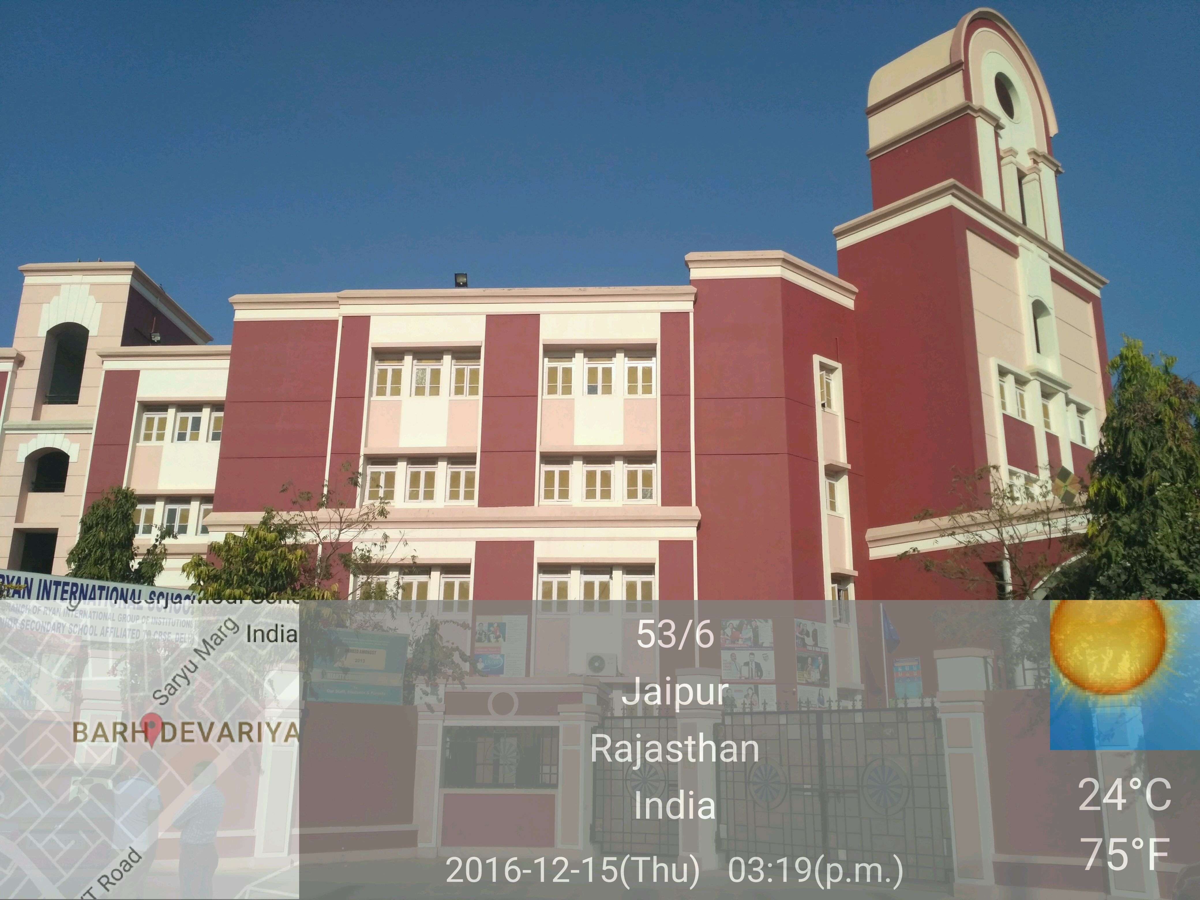 RYAN INTERNATIONAL SCHOOL KINGS ROAD NIRMAN NAGAR AJMER ROAD JAIPUR RAJASTHAN 1730151
