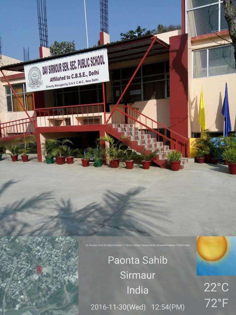 D A V SIRMOUR PUBLIC SCHOOL PAONTA SAHIB HIMACHAL PRADESH 630021