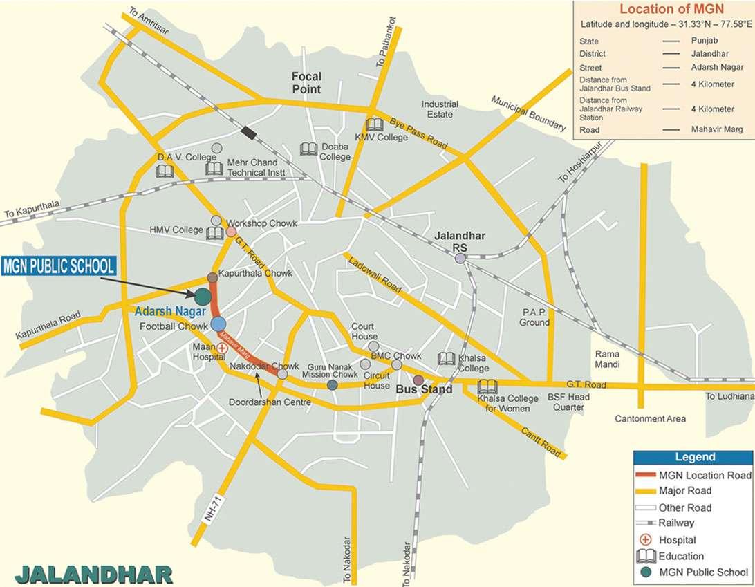MONTGOMERY GURU NANAK PUBLIC SCHOOL ADARSH NAGAR JALANDHAR CITY PUNJAB 1630011
