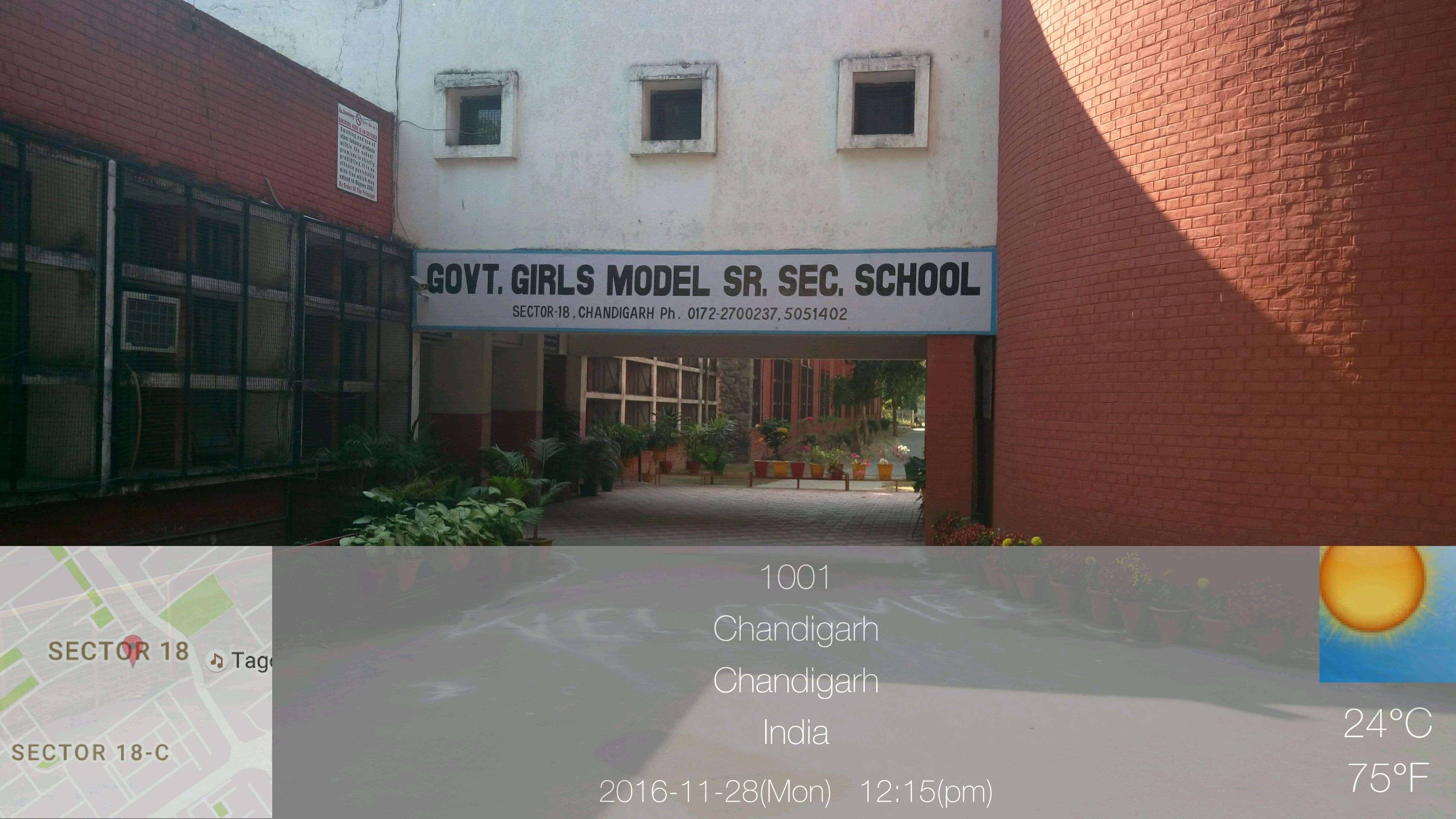 GOVT GIRLS SR SEC SCHOOL SECTOR 18 C CHANDIGARH 2620008