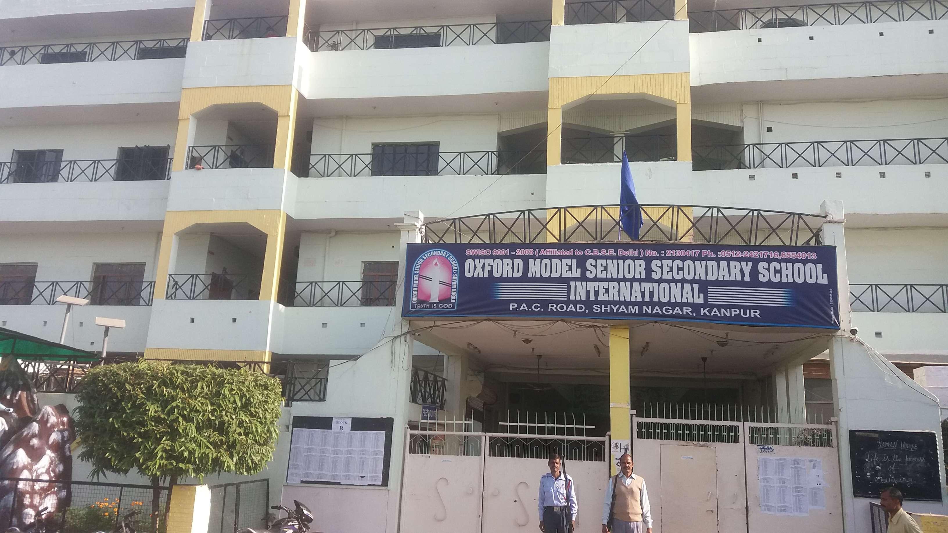 OXFORD MODEL SENIOR SECONDARY SCHOOL 147 E SHYAM NAGAR KANPUR UTTAR PRADESH 2130417