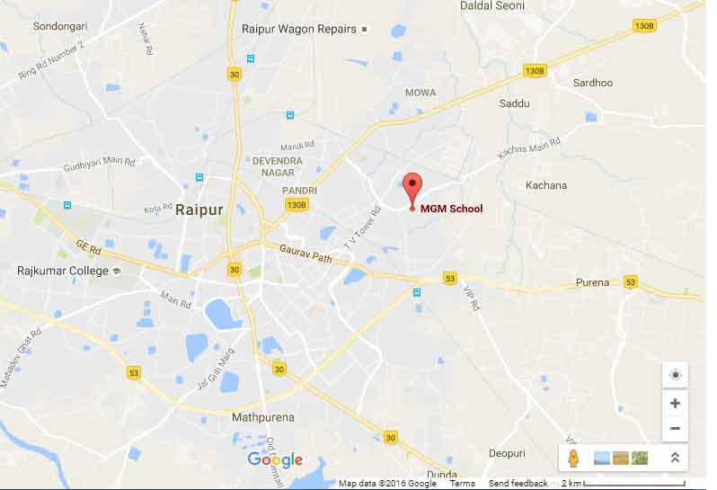 M G M HIGHER SECONDARY SCHOOL Gayatri Nagar Shankar Nagar P O Raipur C G 3330158
