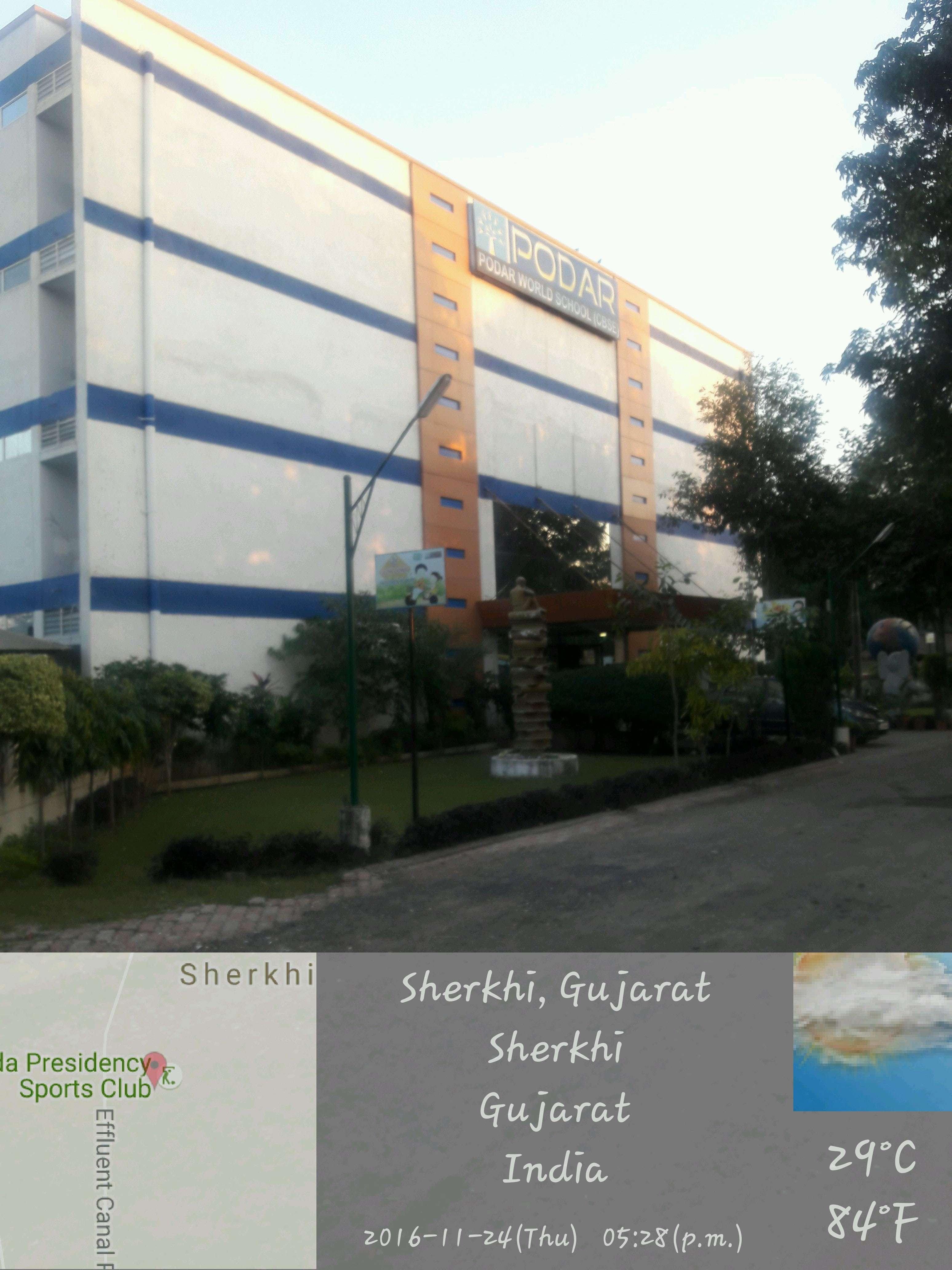 Podar World School Vadodara Bhimpura Koyali channel road Opp bapu nagar bus stand Near Chandan Multiplex Sherki 430182