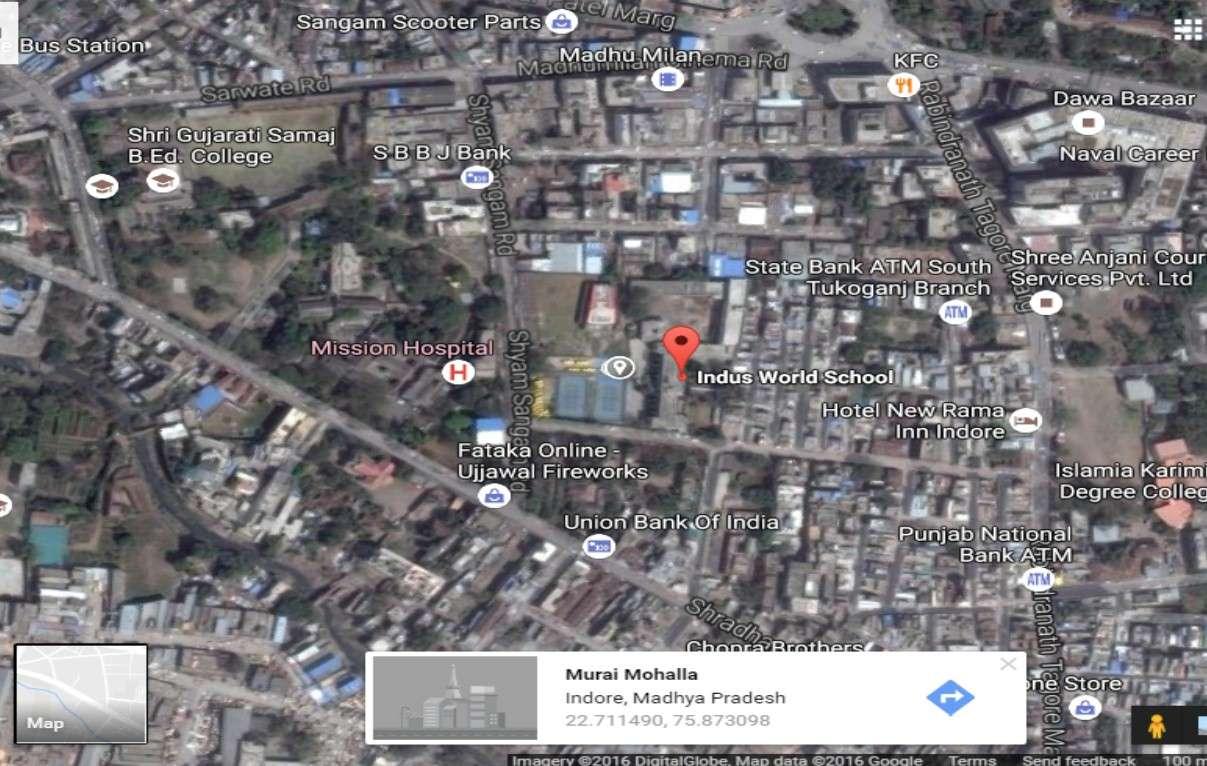 INDUS WORLD SCHOOL 9 Sanyogitaganj Chhawani Near mission Hospital 1030523