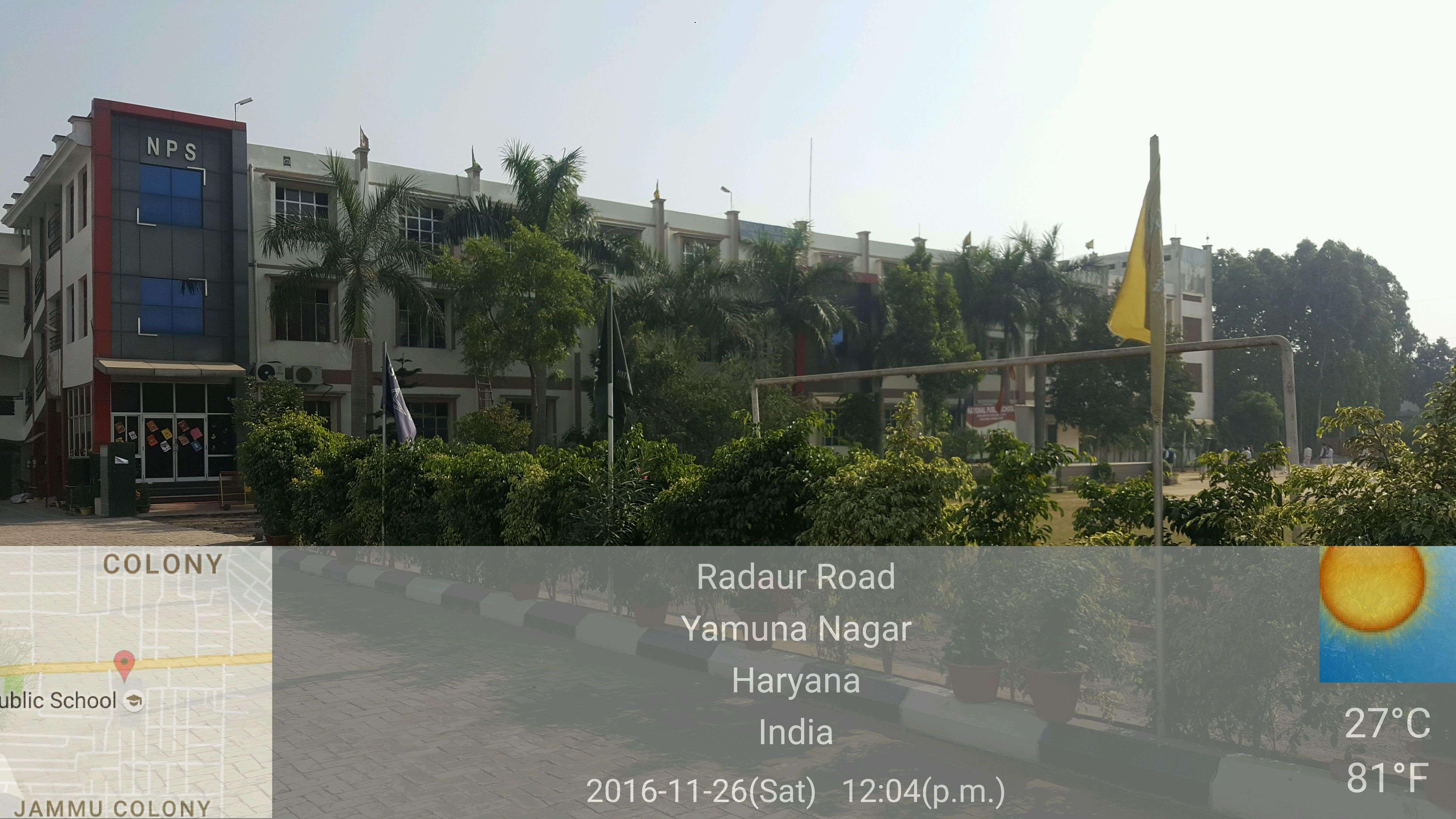 NATIONAL PUBLIC SCHOOL RADAUR ROAD YAMUNA NAGAR JAGADHARI HARYANA 530590