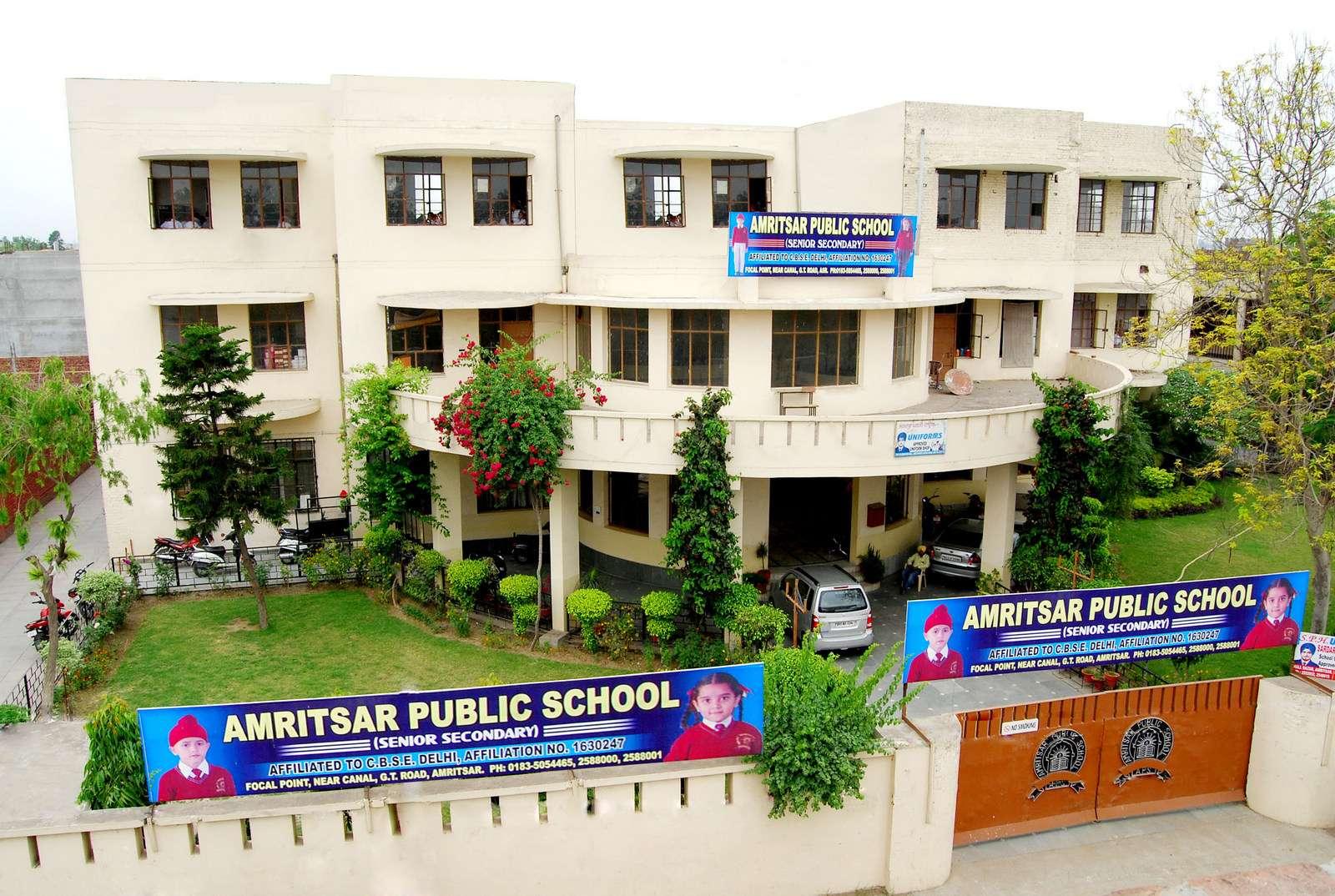 AMRITSAR PUBLIC SCHOOL FOCAL POINT ROAD NEAR CANAL G T ROAD AMRITSAR PUNJAB 1630247