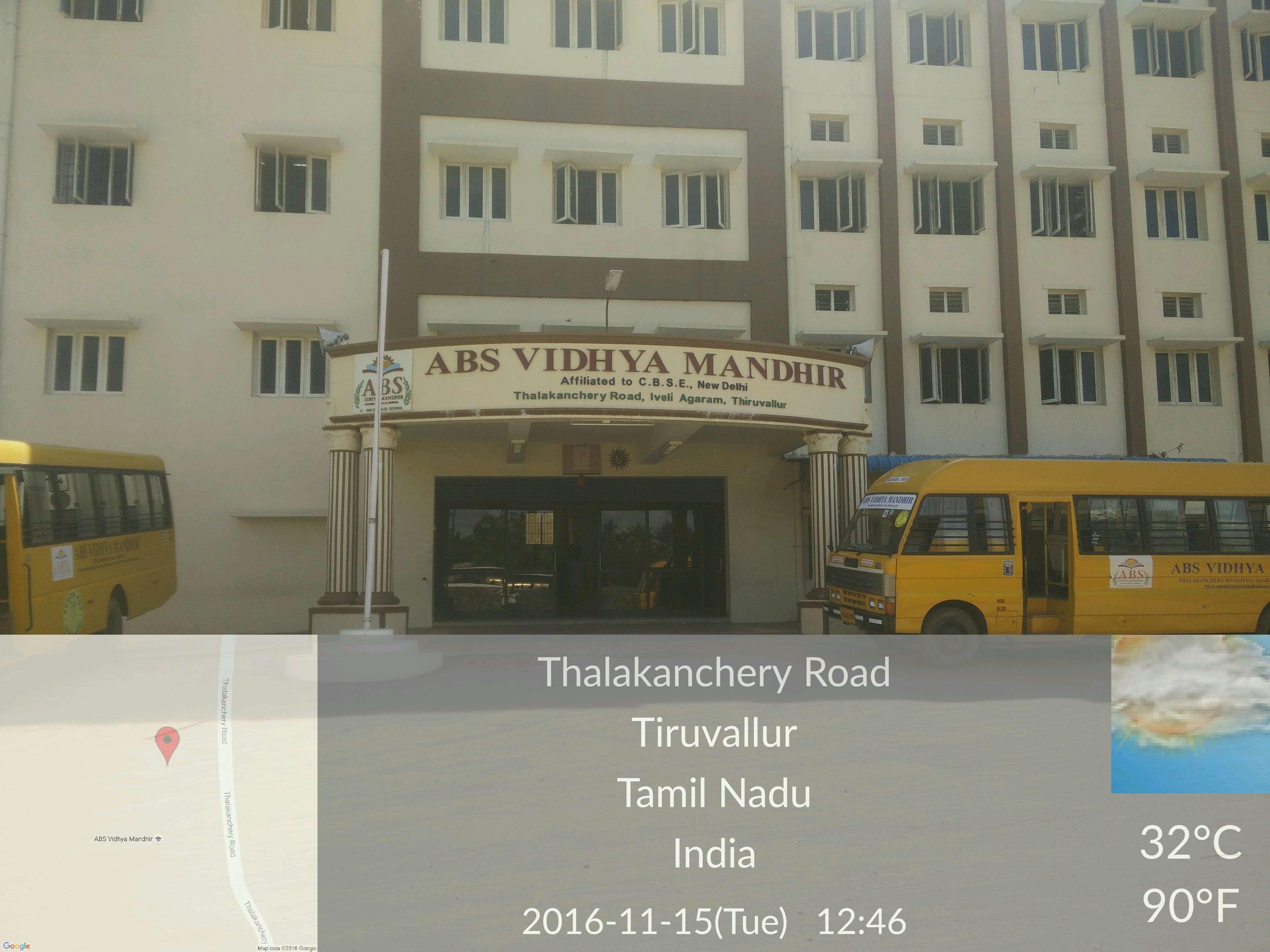 ABS VIDHYA MANDHIR Thalakancherry Road Iveli Agaram Thiruvallur 1930290