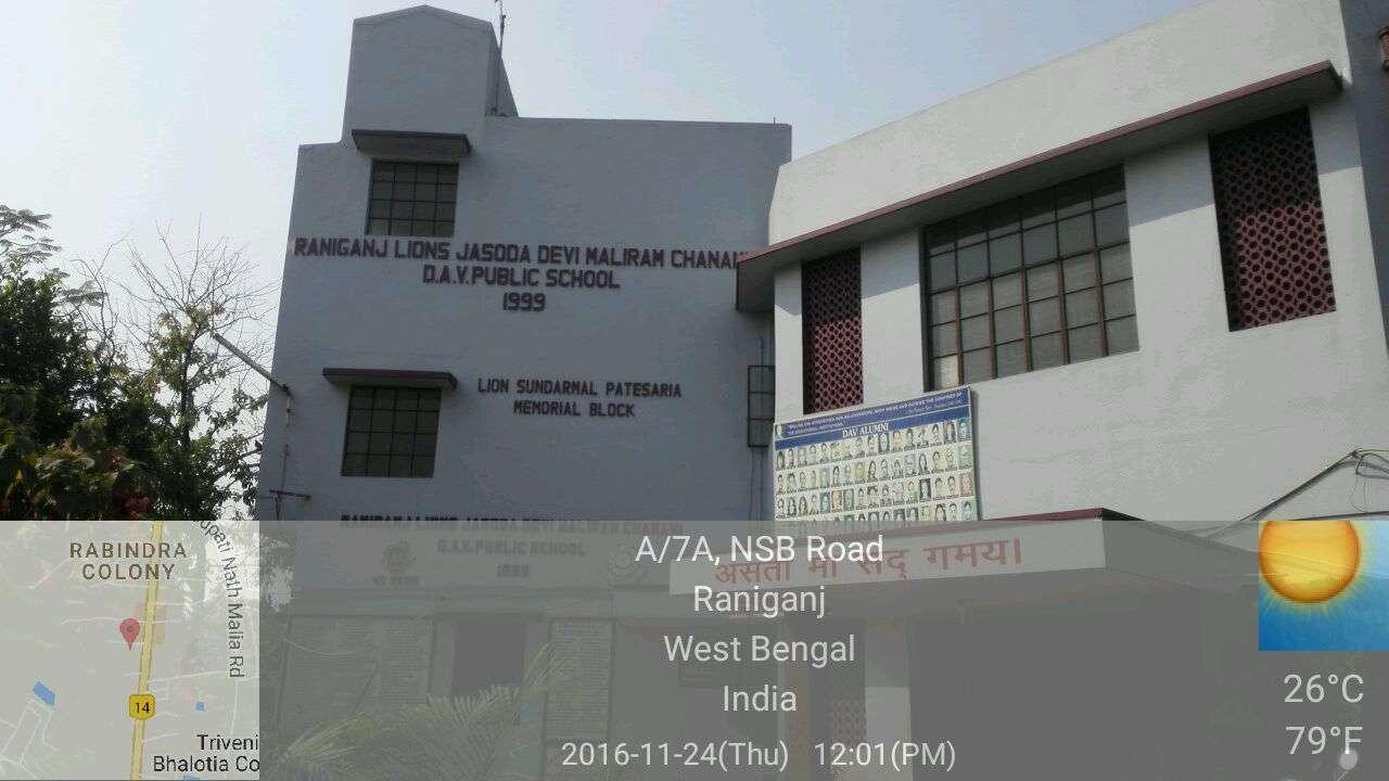RANIGANJ LIONS JDM CHANANI DAV PUB SCHOOL LIONS EYE HOSPITAL ROAD RANIGANJ BURDWAN WEST BENGAL 2430076
