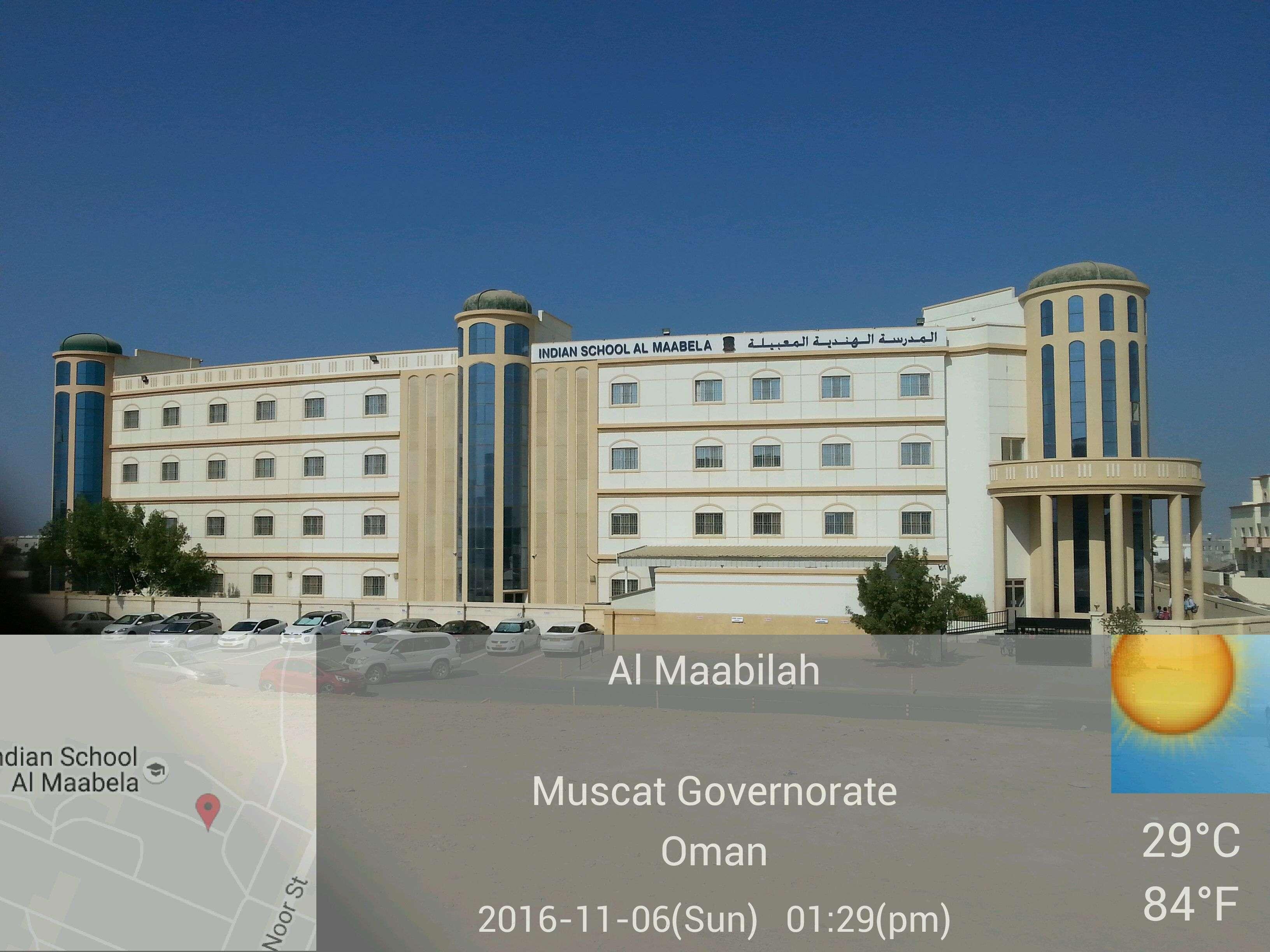 INDIAN SCHOOL AL MAABELA Post box No 134 Al Maabela Postal Code 122 Sultanate of Oman 6130013